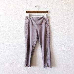Reebok Pocket Gray Capri Leggings